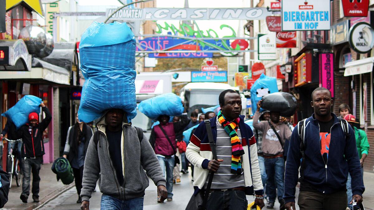 Hamburger Flüchtlinge