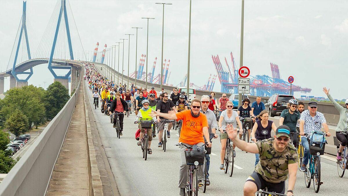 Köhlbrandbrücke Fahrrad